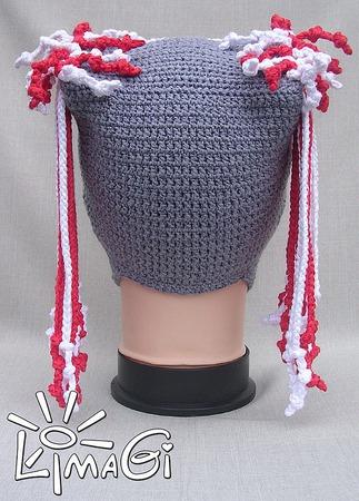 """Шапочка-прическа """"Водопад шнурочков"""" - описание вязания ручной работы на заказ"""