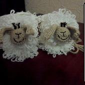 Мастер- класс пинетки - овечки