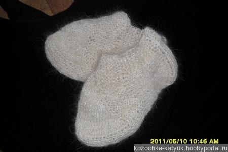 Следки теплые (урюпинский козий пух) ручной работы на заказ