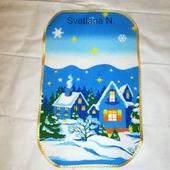 Полотенце салфетки  для кухни Новый год Домики