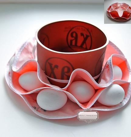 Пасхальница конфетница текстильная Рассвет ручной работы на заказ