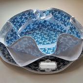 Пасхальница конфетница текстильная Голубые цветы