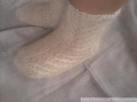 Пуховые носки женские (урюпинский козий пух) ручной работы на заказ