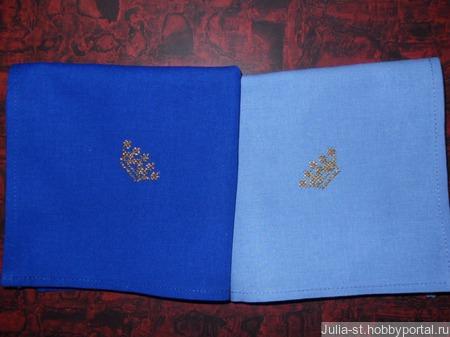 """Носовые платочки """"Королевские"""" мужские (набор) ручной работы на заказ"""