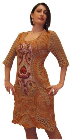 """Вязаное платье """"Единственная моя"""" ручной работы на заказ"""