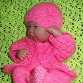 """Костюм для новорожденной """"Розовая нежность"""""""