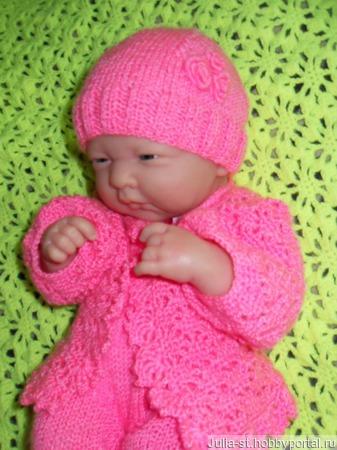 """Костюм для новорожденной """"Розовая нежность"""" ручной работы на заказ"""