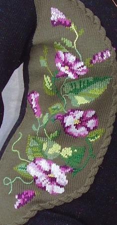 """Вязаное платье """"В объятиях вьюночка"""" ручной работы на заказ"""