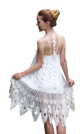 """Вязаный сарафан-юбка """"Лунная фея"""" ручной работы на заказ"""