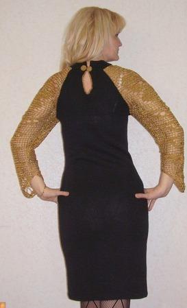 """Вязаное платье """"Вечернее танго"""" ручной работы на заказ"""