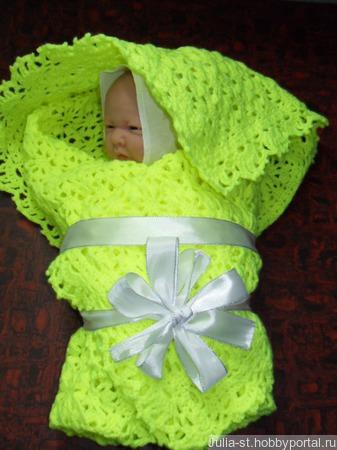 Покрывало / плед для новорожденного ручной работы на заказ