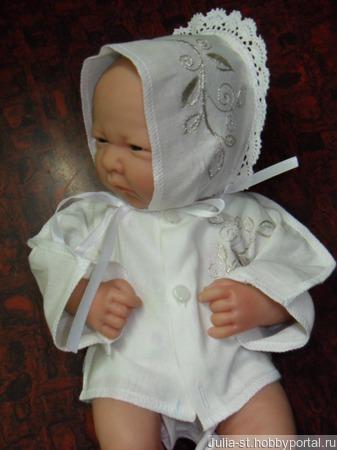 Набор для новорожденного с вышивкой. ручной работы на заказ