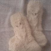 Носочки детские пуховые Сова