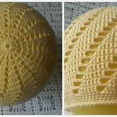 Желтая шапочка крючком