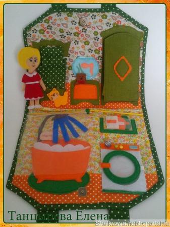 """Мини-книжка """"Кукольный домик"""" ручной работы на заказ"""
