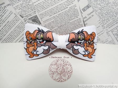 """Галстук-бабочка """"Том и Джерри"""" ручной работы на заказ"""