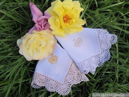 """Кружевные носовые платочки """"Императрица"""" ручной работы на заказ"""