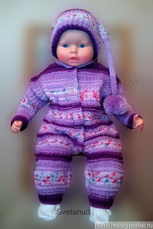 Комплект для малыша. (комбинезон, шапочка) ручной работы на заказ