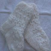 Носочки детские пуховые ажурные