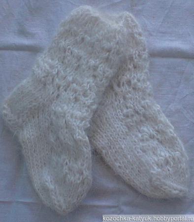 Носочки детские пуховые ажурные ручной работы на заказ