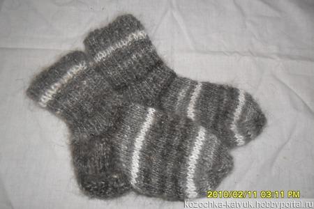 Носочки детские (козий пух урюпинский) ручной работы на заказ