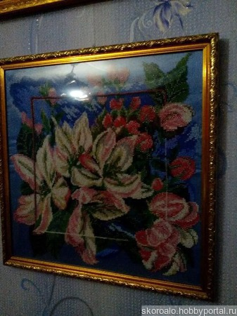 Картина вышитая бисером ручной работы на заказ