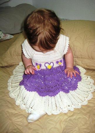 """Платье-сарафан для малышки """"Анютка"""" ручной работы на заказ"""