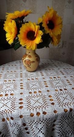 Скатерть на стол прямоугольная ручной работы на заказ
