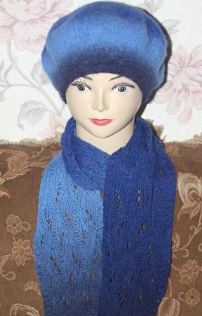 Берет и шарф ручной работы на заказ