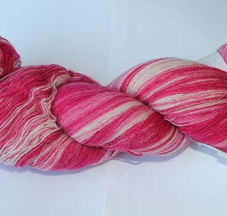 Пряжа Кауни 8/1 Pink-white ручной работы на заказ