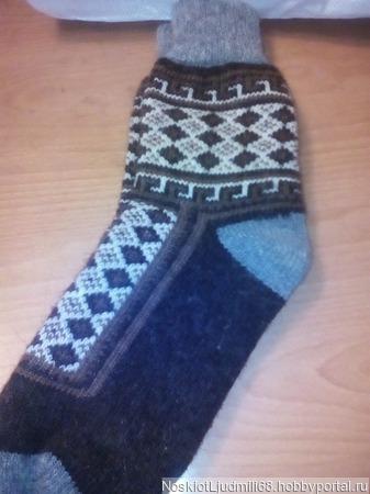 Носки мужские круговые без шва ручной работы на заказ