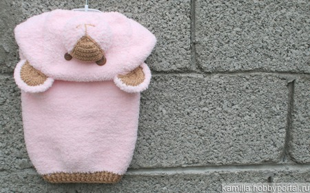 Жилетка Розовый медведь ручной работы на заказ