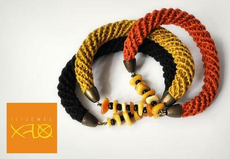 Комплект «L'ete indien» Вязаные жгуты ручной работы на заказ