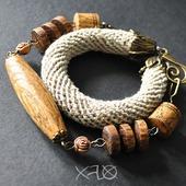 Колье и браслет трансформер (натуральное украшение)