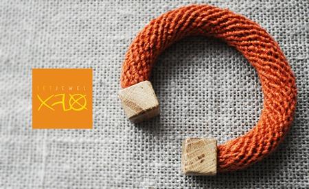 Бохо браслет (лен, дуб) ручной работы на заказ