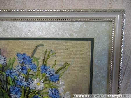 """Картина """"Ромашки и васильки"""" ручной работы на заказ"""