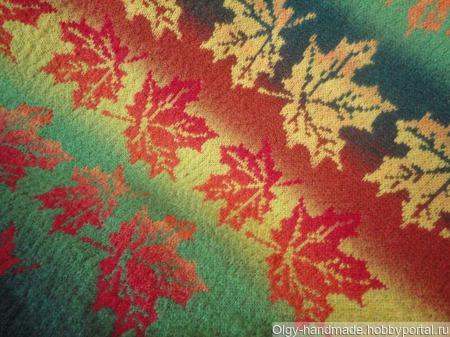 Шаль Кленовые листья ручной работы на заказ