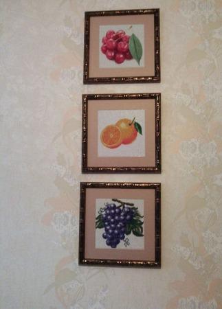 "Алмазная картина ""Виноград"" ручной работы на заказ"