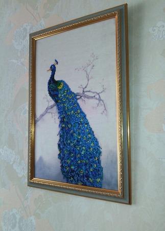 """Алмазная картина """"Павлин"""" ручной работы на заказ"""