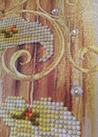 "Алмазная картина ""Каллы"" ручной работы на заказ"