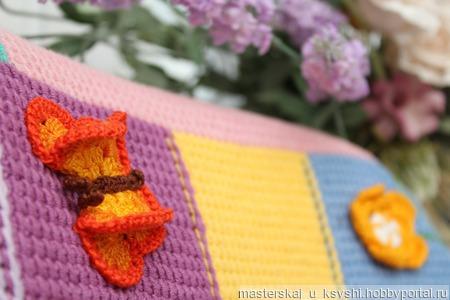 Детский плед Радужный ручной работы на заказ