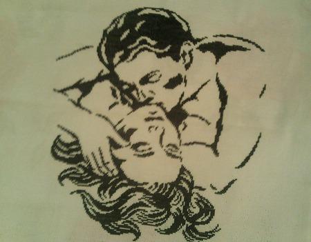 "Картина ""Поцелуй"" ручной работы на заказ"