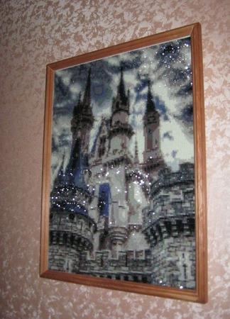 """Картина в алмазной технике """"Замок"""" ручной работы на заказ"""