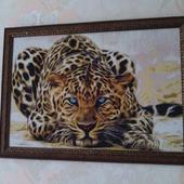 "Алмазная картина ""Леопард"""
