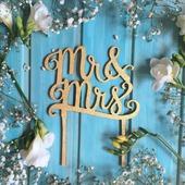 Топпер для украшения свадебного тортика