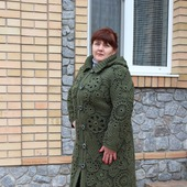 Пальто в технике ИК