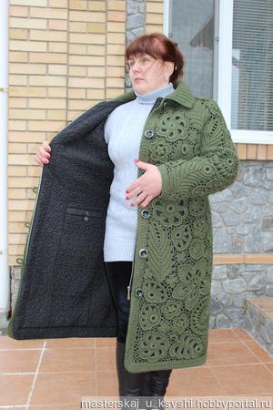 Пальто в технике ИК ручной работы на заказ