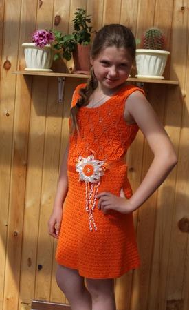 """Платье """"Рыжик"""" ручной работы на заказ"""