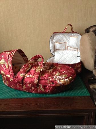 Люлька - переноска для куклы беби бон ручной работы на заказ