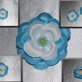 Цветок из репсовой ленты (цена за пару)